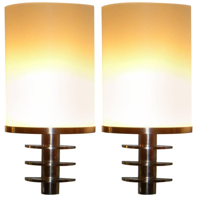 French Art Deco Theatre Style Industrial Sconces