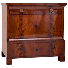 Biedermeier Mahogany Chest of Drawers, Central Germany, 1830s