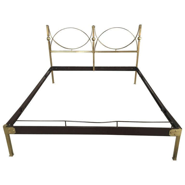 Italian Gilt Brass Bed from 1960s
