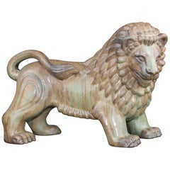 Large Swedish Ceramic Lion by Gunnar Nylund for Rörstrand