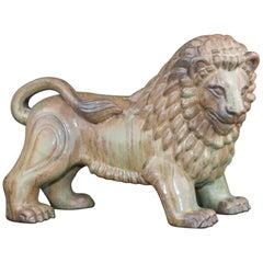 Large Swedish Ceramic Lion by Gunnar Nylund for Rörstrand