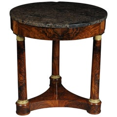 Antique Empire Side Table Walnut Root, circa 1810