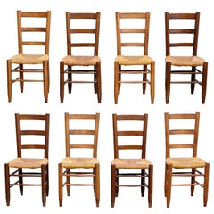Set of Eight Charlotte Perriand Nº 19 Chairs