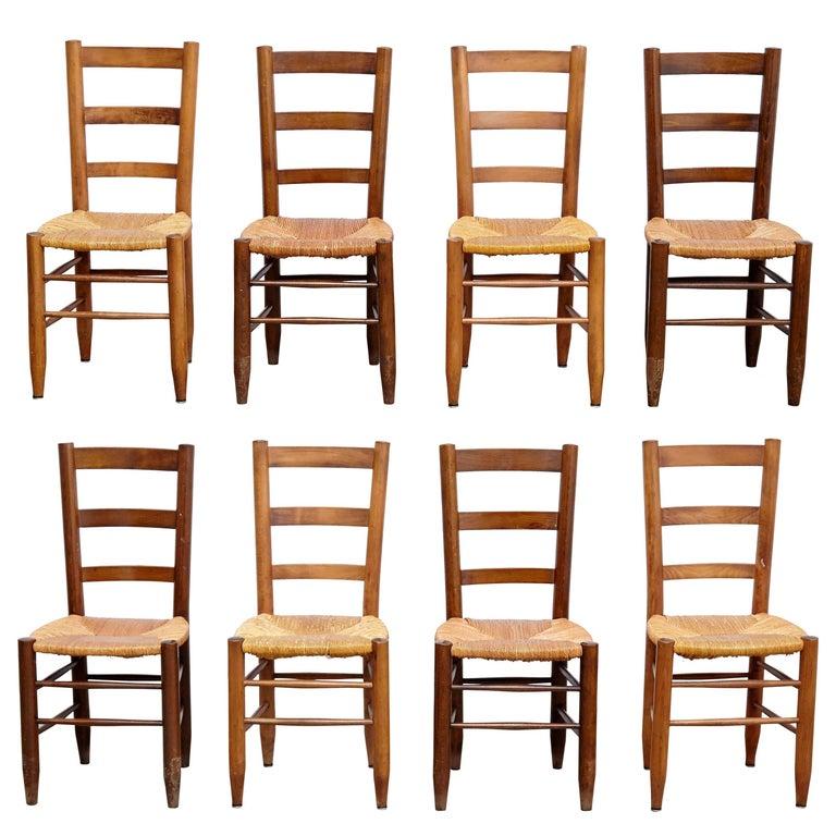 Charlotte Perriand Nº 19 chairs, ca. 1950