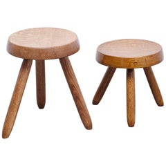 Pair of Stools in the Style of Charlotte Perriand
