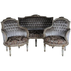Unique French Seating, Set in Louis XVI