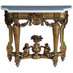 Antique French Splendor Console Table, circa 1860