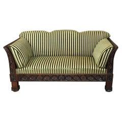 19th Century Biedermeier Gothic Revival Mahogany Sofa