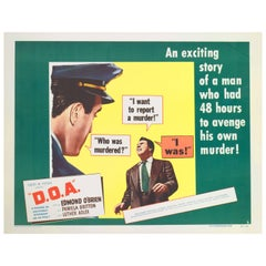"""D.O.A ? Dead on Arrival"", US Movie Poster"