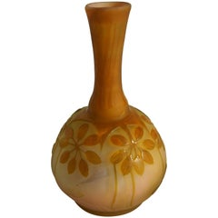 Art Nouveau Emile Galle Stylized Botanical Cameo Vase