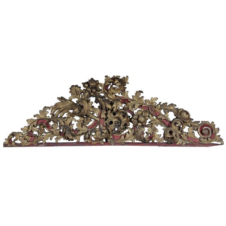 Large Baroque Supraporte / Ornamental Element, Mid-18th Century For Sale