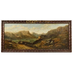 French Signed Landscape Painting Oil on Canvas, 20th Century