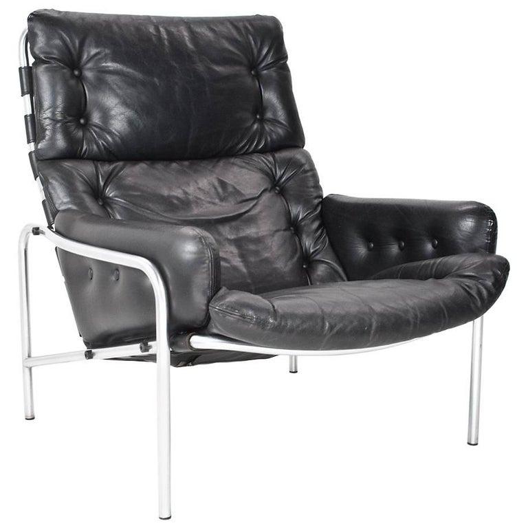 Strange Leather Lounge Chair Nagoya By Martin Visser For T Spectrum 1969 Netherlands Ibusinesslaw Wood Chair Design Ideas Ibusinesslaworg