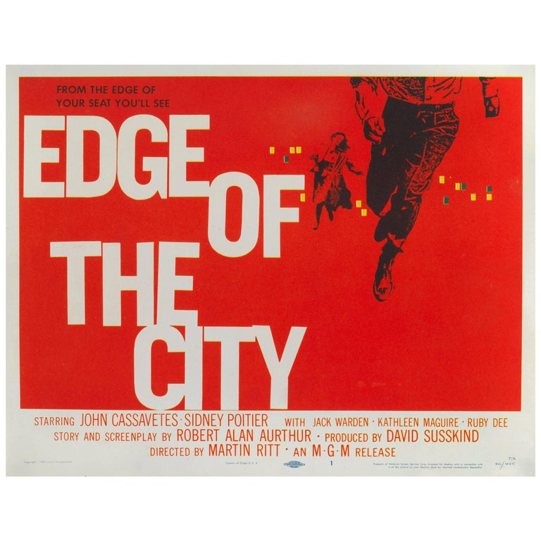 """""""Edge of the City"""" Original US Movie Poster For Sale"""