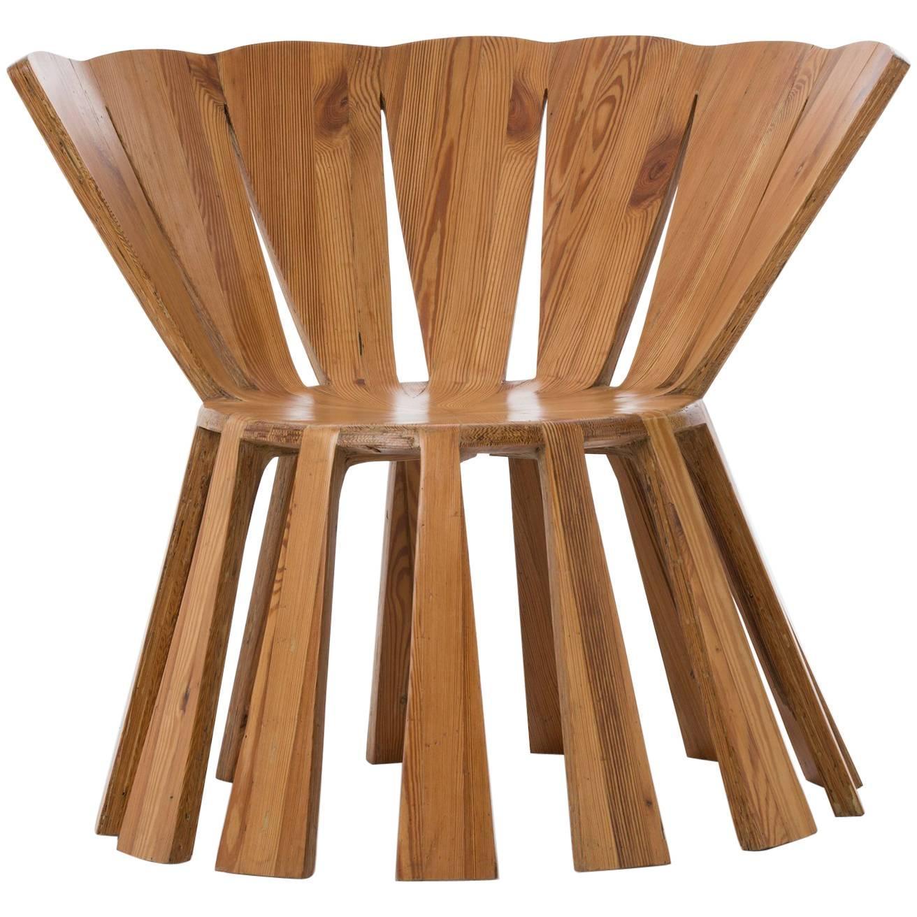 "Contemporary ""Sol"" Chair in Reclaimed Wood by Brazilian Designer Rodrigo Simão"