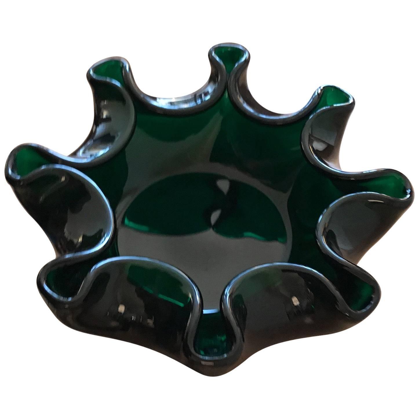 Murano Sommerso Italian Art Glass Centerpiece Bowl