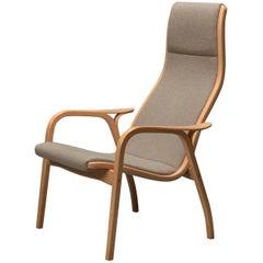 Beech Lamino Lounge Chair by Yngve Ekström for Swedese