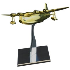 Brass Model of a Sunderland Flying Boat