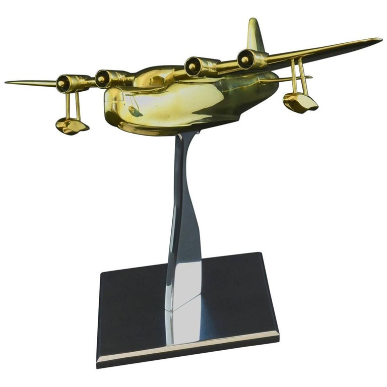 Brass Model of a Sunderland Flying Boat For Sale