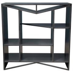 Modern Steel Etagere Bookcase, Meridian Modular Credenza by Force/Collide