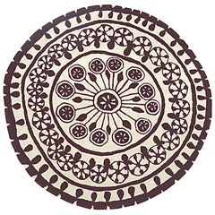 Rangoli Medium Round Hand-Tufted Wool Rug by Nani Marquina in Stock