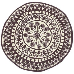 Rangoli Large Round Hand-Tufted Wool Rug by Nanimarquina