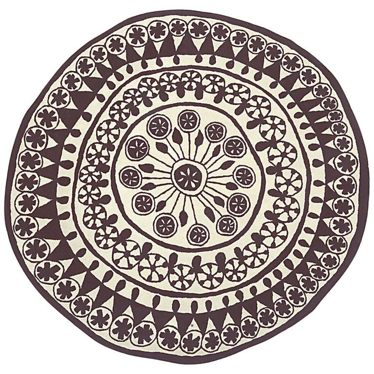 Rangoli Extra Large Round Hand-Tufted Wool Rug by Nanimarquina For Sale