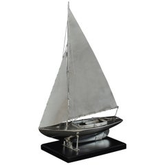 Benzie's Silver Model Yacht