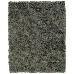 Roses Grey Hand-Loomed Wool Dyed Felt Rug by Nani Marquina in Stock