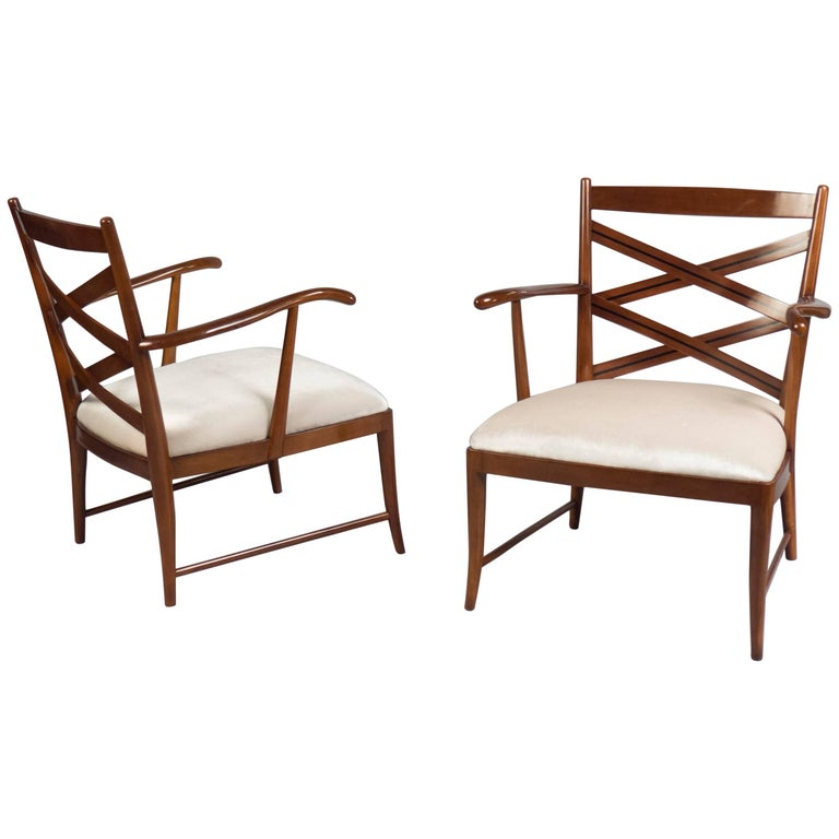 Pair of Armchairs, Attributed to Paolo Buffa, Italy, circa 1955