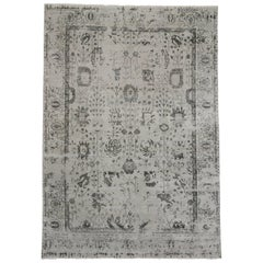 New Contemporary Area Rug with Oushak Pattern and Modernist Chippendale Style