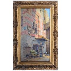 "20th Century Oil Painting Signed, Tony Binder ""Cairo"", circa 1920"