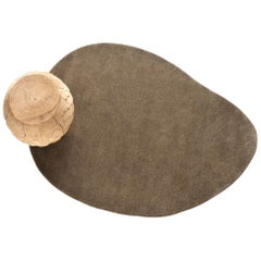 Stone 1 Beige Hand-Tufted Wool Rug by Diego Fortunato in Stock