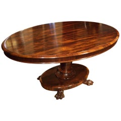 19th Century William IV Rosewood Oval Dining Table