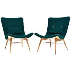 Lounge Chairs by Miroslav Navratil for Cesky Nabytek, Czechoslovakia, 1960s