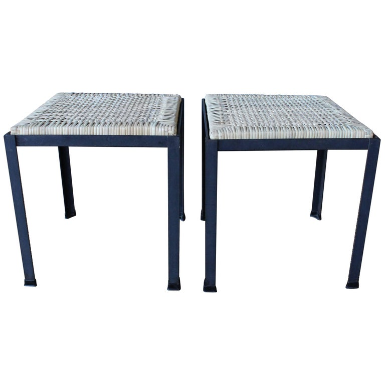 Pair of Stools by Danny Ho Fong for Tropi-Cal