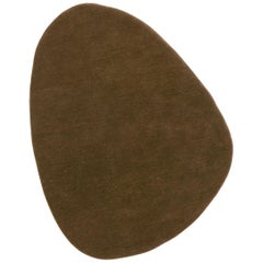 Stone 4 Brown Hand-Tufted Wool Rug by Diego Fortunato in Stock