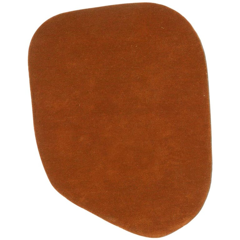 Stone 5 Red Hand-Tufted Wool Rug by Diego Fortunato in Stock For Sale