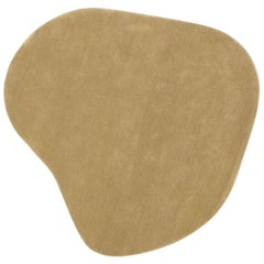 Stone 6 Tan Hand-Tufted Wool Rug by Diego Fortunato in Stock