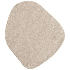 Little Stone 7 Ivory Hand-Tufted Wool Rug by Diego Fortunato in Stock