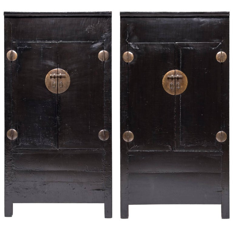 amazing black lacquer cabinets. Pair of Chinese Black Lacquer Cabinets For Sale at 1stdibs