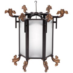 Chinese Lantern with Gilt Finials