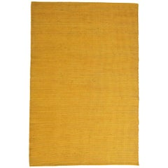 Tatami Yellow Wool and Jute Rug by Nani Marquina and Ariadna Miquel Large