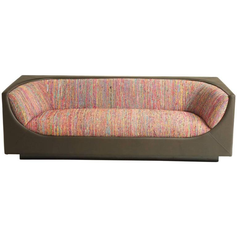 Modern Brazilian Cubo Couch by Jorge Zalszupin For Sale