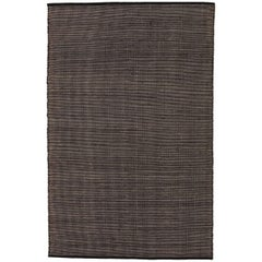 Tatami Black Wool and Jute Rug by Nani Marquina & Ariadna Miquel Large