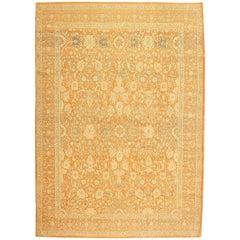 Decorative Antique Indian Vase Design Oriental Agra Rug