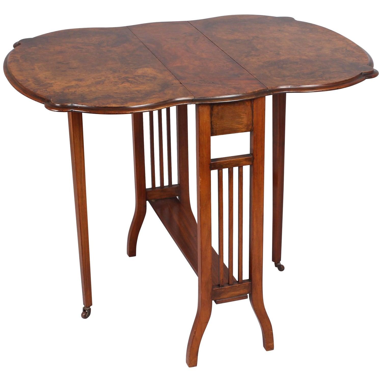 Edwardian Walnut Sutherland Table