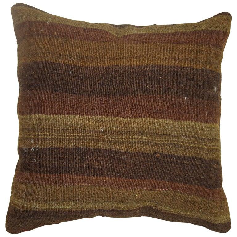 Brown Turkish Kilim Pillow