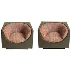 Cubo 'Cube' Pair of Armchairs by Jorge Zalszupin