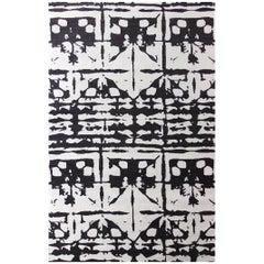 Eskayel, Banda, B&W Flat-Weave Rug